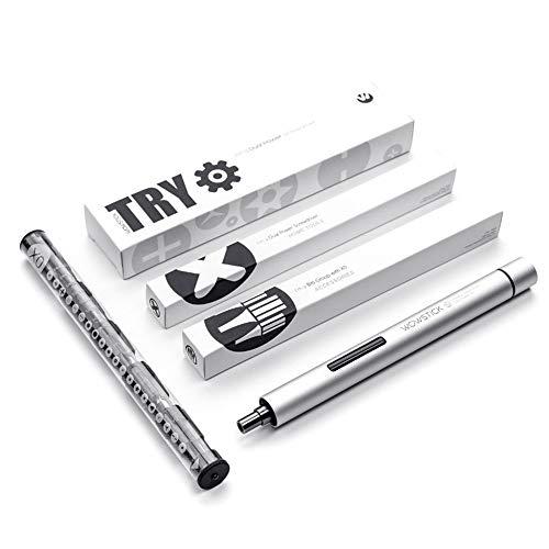 Mini Tournevis électrique Yulai WowstickTry, Mini Pen Design Kit de tournevis électrique et manuel à deux modes alimenté par batterie 3N.m