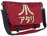 Meroncourt BIO-MB221005ATA Messenger Bag with Japanese Logo, Red (Crimson Red)