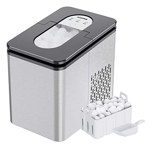 27Lbs Ice Maker for Portable Countertop,9 Ice Cubes Ready in 5-7 Mins,Automatic Electric Ice Maker Machine with Self- Cleaning Function with Ice Scoop and Basket