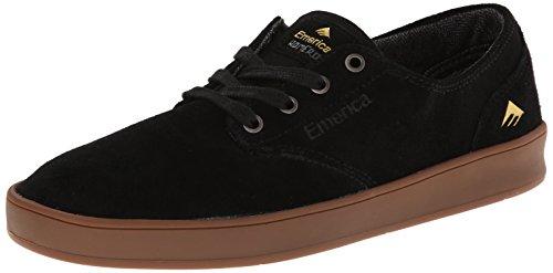 Emerica Men's The Romero Laced Skateboarding Shoe,Black/Gum,7.5 M US