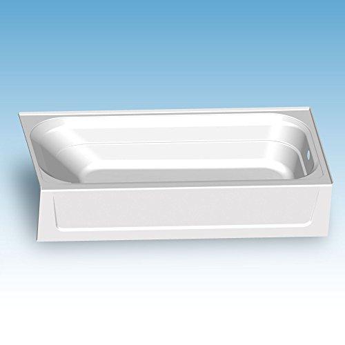 Mustee T6030R Fiberglass Rectangular Alcove Bathtub with Right-Hand Drain, White