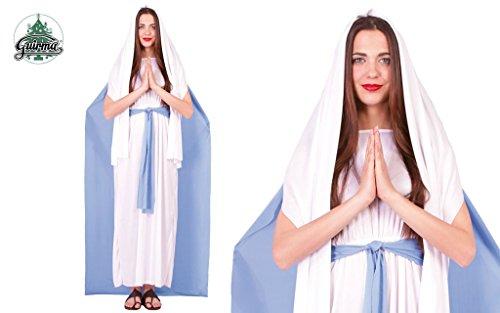 Guirca SL - Disfraz de Virgen Maria/Virgen Mujer, Color Lila/Blanco, Talla única, GU_42486
