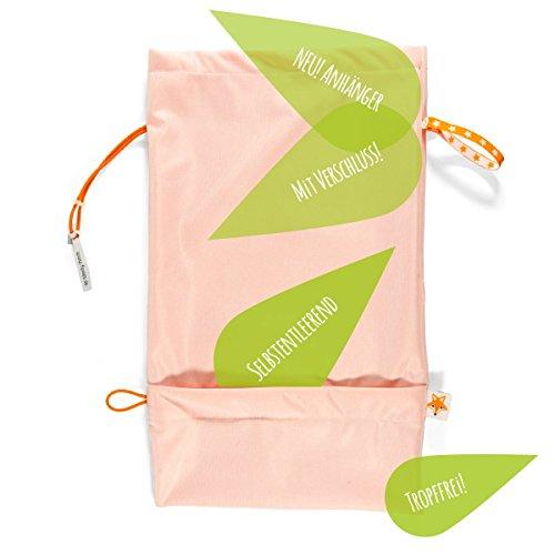 Foxy Baby® Wetbags – Windelbeutel, selbstentleerende Windeltasche mit Auslaufschutz (Orange)