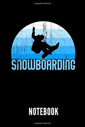 Snowboarding notebook: Ein schönes Notizbuch mit 110 linierten Seiten für jemanden, der Snowboard fahren liebt - Ideal für Notizen zum Thema Snowboarding