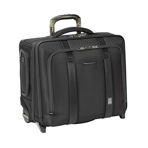 Travelpro Crew Executive Choice 2-Wheeled Brief Bag with USB Port Briefcase, Black, 17-Inch