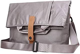 Backpack Men's Handbag Casual Portable Large Capacity Canvas Multi-Function Male Messenger Bag Shoulder Bag Suitable for Travel (Color : Gray, Size : S)