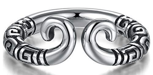 LIMUZHI Anillo ajustable abierto de plata 925, moda hombre y mujer pareja matrimonio personalidad cualquier dedo anillo