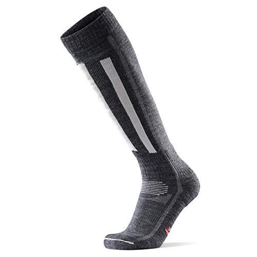 DANISH ENDURANCE Calcetines Térmicos de Esquí de Lana Merino 1 Par (Gris Oscuro/Gris Claro, EU 39-42)