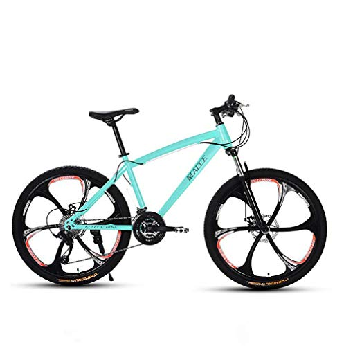 Adulti 26 Pollici Mountain Bike, Spiaggia motoslitta Biciclette, Biciclette Doppio Freno a Disco, Alluminio Lega, Uomo Donna General Purpose,Blu,27 Speed
