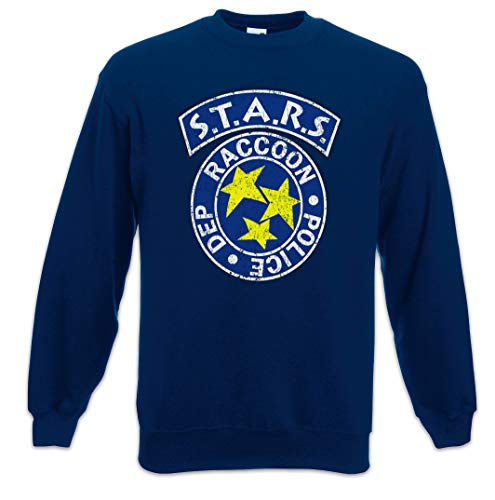 Urban Backwoods Vintage S.T.A.R.S. Logo Sweatshirt Pullover Blau Größe S
