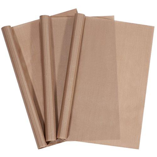 limiyouxi Lot de 3 feuilles de cuisson permanentes - 40 x 60 cm - Facile à découper - Passe au lave-vaisselle - Respectueux de l'environnement