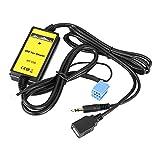 Adaptador de Entrada Auxiliar para automóvil, Cable USB para automóvil Adaptador de Entrada Auxiliar Reproductor de MP3 Radio Interfaz de Audio Entrada de Audio Auxiliar Adaptador Auxiliar Apto