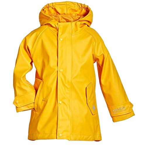 BMS Kinder Regenmantel - 100% wasserdicht - gelb - 98
