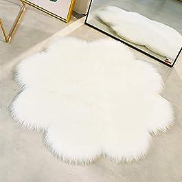 QINGLOU Peau de Mouton synthétique,Cozy Sensation comme véritable Laine Tapis en Fourrure synthétique, Fluffy Soft…
