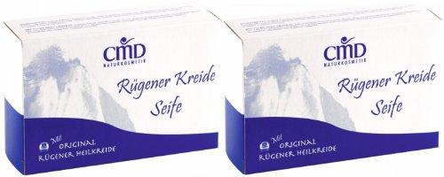 CMD Mineral Seife mit Rügener Kreide 2er-Pack (vegan, Naturkosmetik)