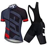LLYY Traje Equipacion Ciclismo Hombre Verano Pantalones Cortos,Ropa de Ciclismo 20D Gel Pad Shorts Bike Jersey Set Ropa para hombre-A18_3XL