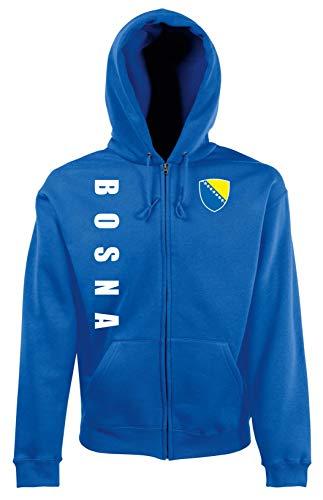 Aprom-Sports Bosnien ZIP Hoodie Jacke -Kapuzen Sweat Sport Trikot ROY Look (L)