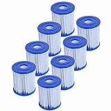 Denkmsd Filtro de Piscina Tipo I,Filtro de Piscina para Bestway Cartucho de Filtro tamaño 1, para Piscina Bestway SPA de Repuesto, Filtro de Limpieza de Piscina Hinchable, Accesorios (8 Pcs)