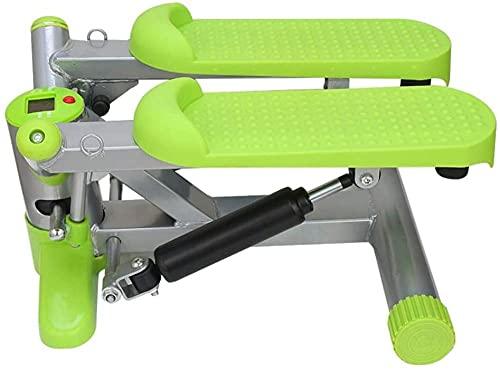 RRB Step Machines Steppers Fitness Twister Stepper con Monitor LCD y Bandas de Resistencia Mini Stepper de Interior para Principiantes y usuarios avanzados Twist Stepper