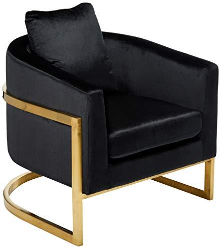 Chloe Modern Velvet Glam Armchair