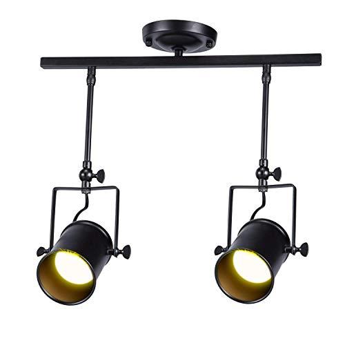 AI LI WEI mooie lampen/American Loft Vintage spoorlichten plafondschijnwerpers, smederij Retro industrie ijzeren plafond inbouw met 1 aansluiting voor cafe bar dining kamer restaurant