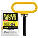 Yellow Magnetic Hitch Pin - Lawn Mower...