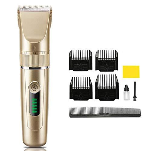 Draagbare Hair Trimmer Clipper snoerloze elektrische Haircut Kit Beard Shavers voor beginners, USB oplaadbare, LED-display voor het hele gezin