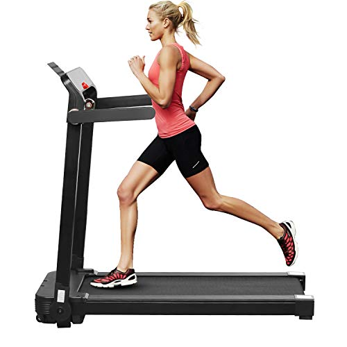 ZENOVA Folding Treadmill for Home Workout, Electric Treadmill Walking Running Machine with LED Display Easy Assembly Under Desk Treadmill