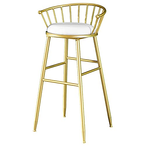 Sgabello da bar in ferro battuto dorato, seggiolone commerciale moderno, altezza del bancone 24/26/30 pollici, comodo cuscino in flanella, bar, ristorante, caffetteria, hotel, sedia da cucina