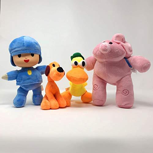 WAREHOUSEDEALS Inspired by Pocoyo Plush Toys Doll Stuffed Soft- Pocoyo Loula Elly Pato Set 4pcs 12'