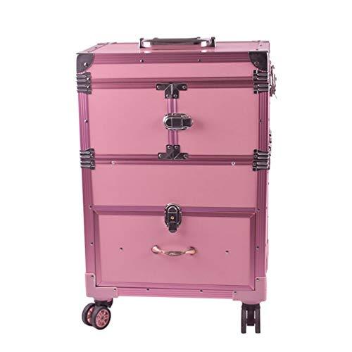 Cosmetic Cases Mallette À Maquillage, Valise De Maquillage Beauty Case, roulettes Pivotantes avec Serrures Et Clés