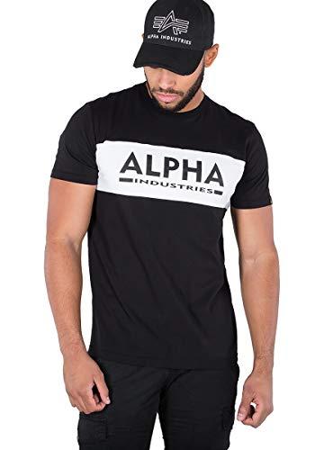 ALPHA INDUSTRIES Herren Alpha Inlay T T-Shirt, Schwarz, L