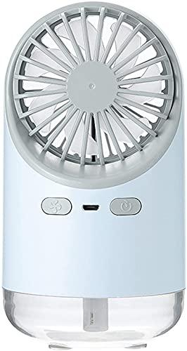 wsbdking Refrigerador de aire del ventilador de aire acondicionado portátil, humidificador de refrigeración de la niebla fría rápida del USB evaporativo, Oficina ultrarrápida Pequeño Fan de escritorio