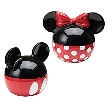 Disney Mickey Mouse and Minnie Mouse Ceramic Salt and Pepper Shaker Set