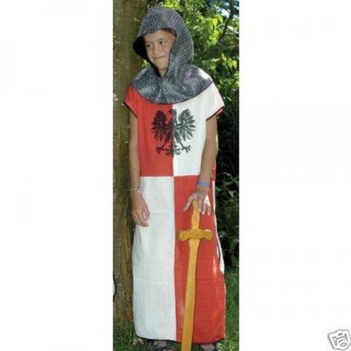 Unbekannt Waffenrock Adler rot weiß Tunika Ritter Kostüm