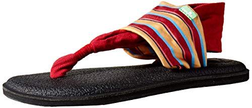 Sanuk Damen Yoga Sling 2 Solid Vintage Flip-Flop Sandale, Sand Harbor Rot, 40 EU