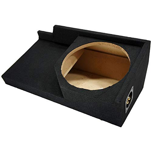"""Compatible with Chevy C/K Silverado or GMC Sierra Full Size Extended Cab Truck 1988-1998 Single 12"""" Subwoofer Sub Box Speaker Enclosure"""