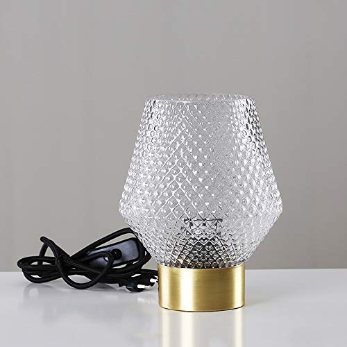 WZNING Marokkaanse European Light Luxe Glazen Tafellamp Nachtkastje Inrichting huis Slaapkamer Soft Decoratie Ambachten Creative Decoratie Kandelaar Housewarming Gift Kandelaar (Color : White)