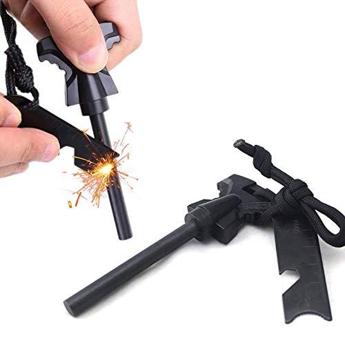 Emergency Fire Starter Kit - Magnesium Fire Starter Survival Gear - 6-in-1...