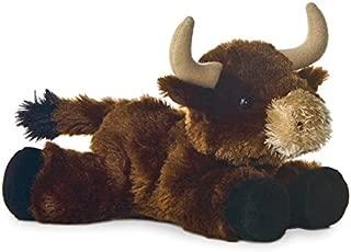 "8"" Mini Flopsie Brown Toro Brown Bull Soft Stuffed Animal Plush"