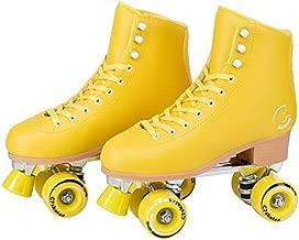 C SEVEN C7skates Cute Roller Skates for Girls and Adults (Lemonpop, Women's 9 / Men's 8)