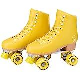 C SEVEN C7skates Cute Roller Skates for Girls and Adults (Lemonpop, Women's 7 / Youth 6 / Men's 6)