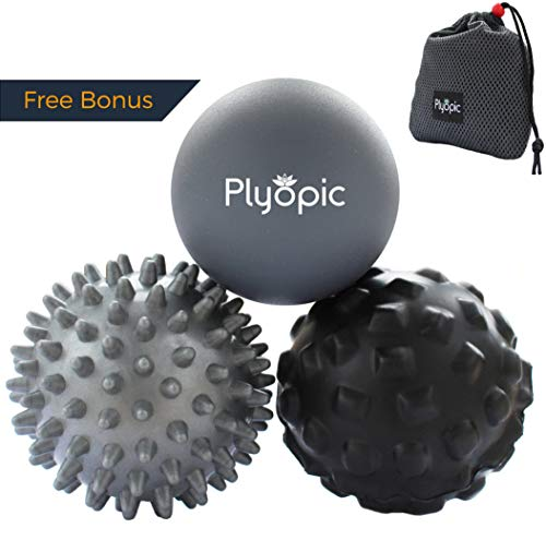 Plyopic Massage Ball Set – for Deep Tissue Muscle Recovery, Myofascial Release, Trigger Point Therapy, Crossfit Mobility and Plantar Fasciitis Relief
