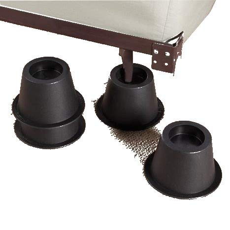 ALL FOR YOU Bed Riser or Furniture Riser -Set of 4 Pieces (6.5 INCH High)-Cylinder Shape, More Storage Space Under Bed or funitures-Set of 4 Pieces (4 Piece Set)