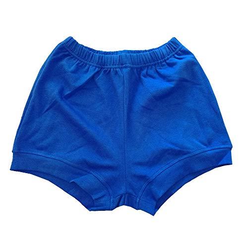 THEECA - Pantalones cortos de algodón elástico suave para mujer y hombre