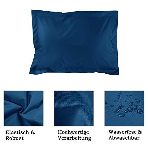 alibey Sitzsack Sitzkissen Kinder Indoor Outdoor Sessel Rechteckig Bean Bag (XXL = 160 x 120, Marine) - 2