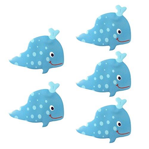 joyMerit 5pcs Antirutsch Badewannenaufkleber Pads Dusche Sticker für Kinder - Wal, 140x 90mm
