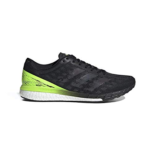 adidas Adizero Boston 9 Shoe - Men's Running Core Dusky/Signal Green/White thumbnail