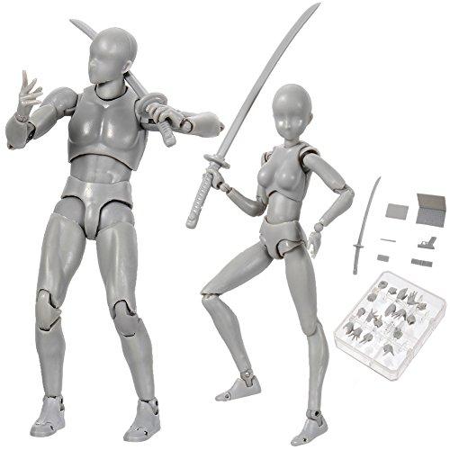 Starall Action Figuren Modell, Allacers Human Mannequin 2.0 Körper Kun Puppe Body-Chan Mann / Frau Action-Figur DX-Set mit Zubehör-Kit, ideal zum Zeichnen, Skizzieren, Malerei