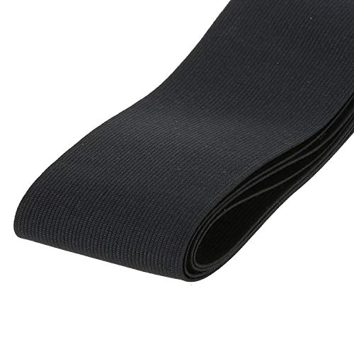 Usew 3-inch Wide Black Knit Heavy Stretch High Elasticity Elastic Band [3 feet]